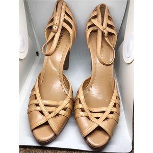 Gianni bini camel strappy heels 8.5